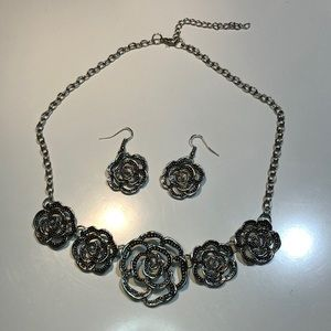 Paparazzi Roses Necklace and Earrings